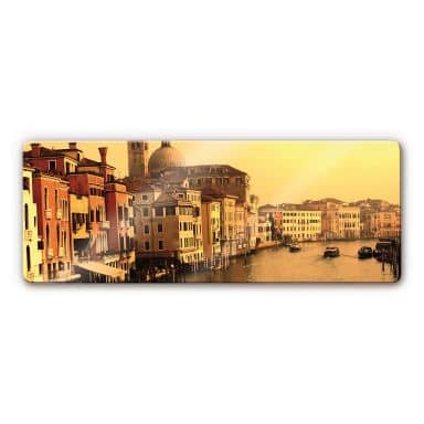 Glasbild Venedig - Panorama