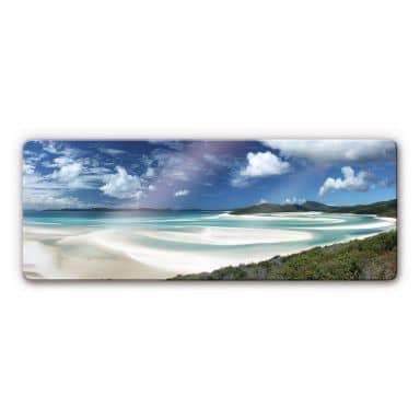 Whitehaven Beach Glass art - panorama