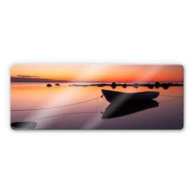 Quiet Lake Glass art - panorama