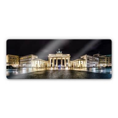 Glasschilderijen Brandenburger Tor - panorama