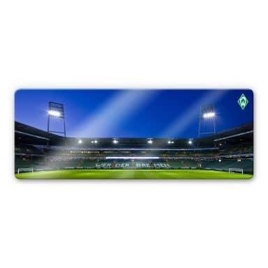 Glasbild Werder Bremen Weserstadion Tribüne Panorama