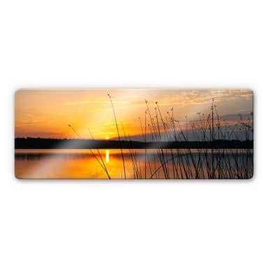 Sunset on Lake Panorama Glass art
