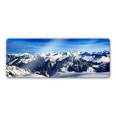 Glasbild Alpenpanorama