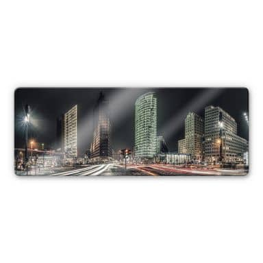 Glasbild Potsdamer Platz - Panorama