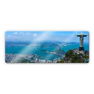 Rio de Janeiro - Panorama Glass art - panorama