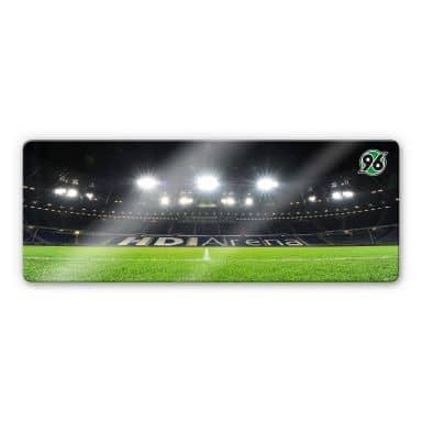Glasbild Hannover 96 - HDI-Arena Nacht - Panorama