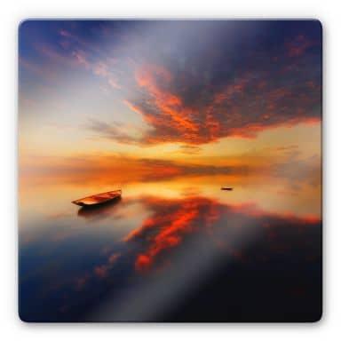 Glasbild Krol - Ein leuchtender Sonnenuntergang -