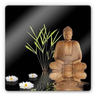 Glasbild Zen Buddha - quadratisch