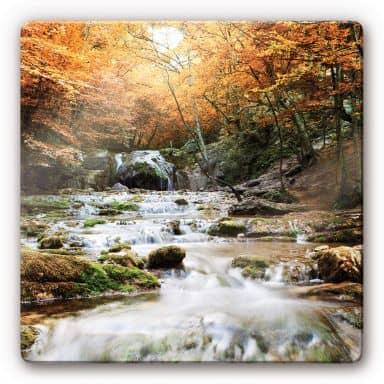 Autumn Waterfall Glass art