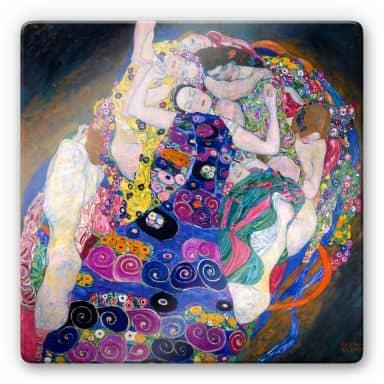 Glasbild Klimt - Die Jungfrau