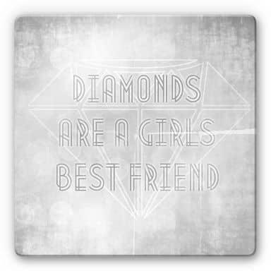 Glasbild Diamonds are a Girls best Friend