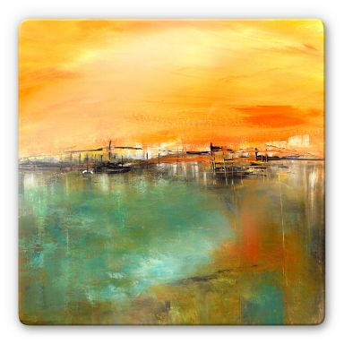 Glasbild Niksic - Am Wasser
