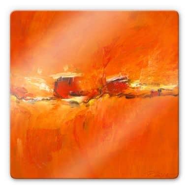 Glasbild Schüßler - Composition in Orange