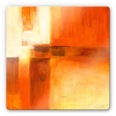 Glasbild Schüßler - Composition in Orange and Brown