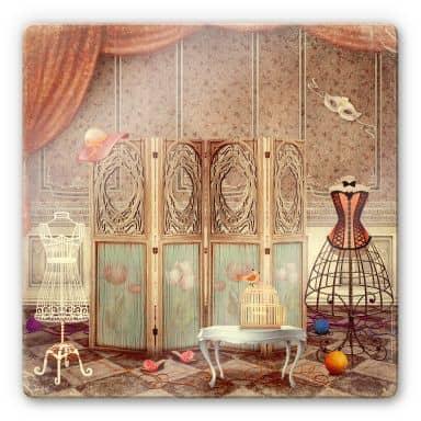 Glasbild Ankleidezimmer einer Prinzessin