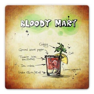 Glasbild Bloody Mary - Rezept