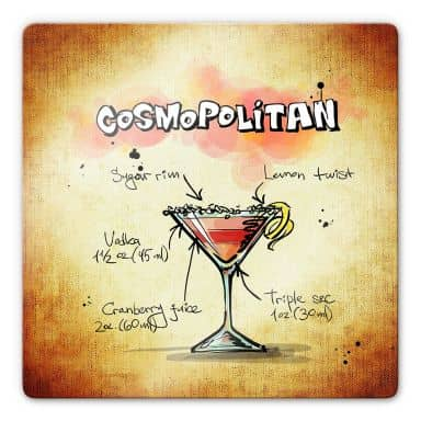 Cosmopolitan - Recipe Glass art
