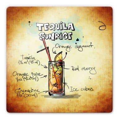 Glasbild Tequila Sunrise - Rezept