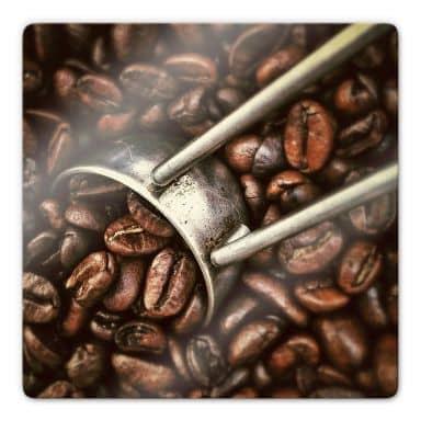 Glasbild Kaffeerösterei
