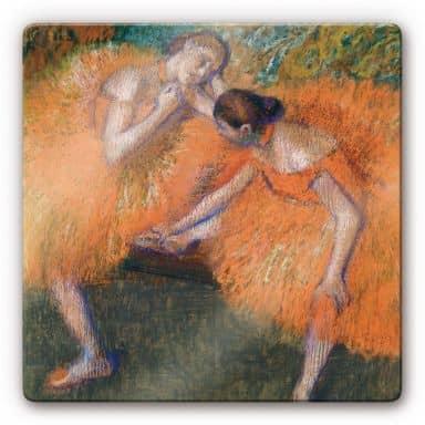 Glasbild Degas - Zwei Tänzerinnen