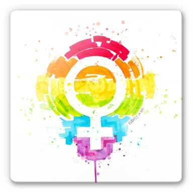 Glasbild Buttafly - Social Movement - Female