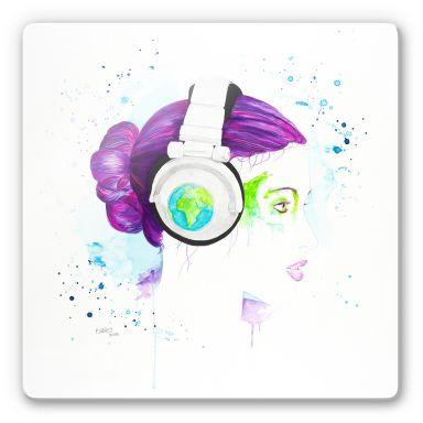 Glasbild Buttafly - Listen to the World