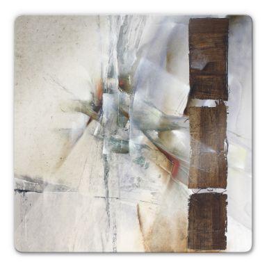 Glasbild Schmucker - Weisse Komposition