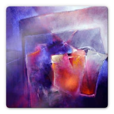 Glasbild Schmucker - Blau und Orange