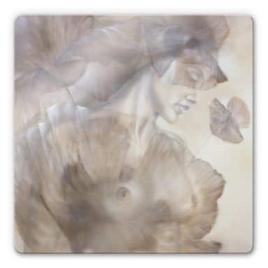 Glasschilderij Schmucker - Naked Poppy