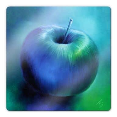 Glasbild Schmucker - Blauer Apfel