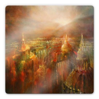 Glasbild Schmucker -  Die Stadt erwacht