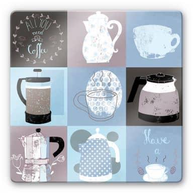 Glass Print Loske - Coffee Time