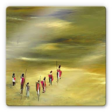 Glasbild Niksic - Die Wanderer