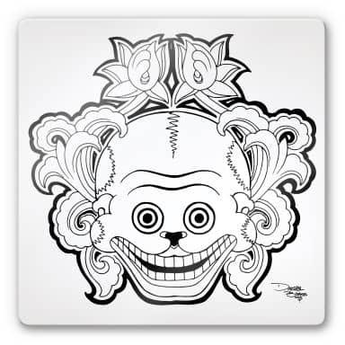 Tableau en verre - Miami Ink- Masque des morts mexicain 2
