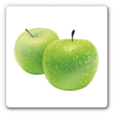 Glasbild Green Apple