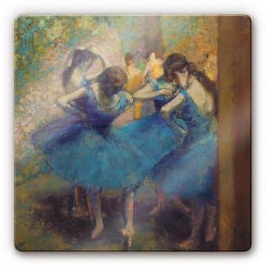 Glasbild Degas - Die blauen Tänzerinnen