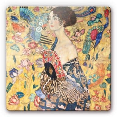 Klimt - Lady with Fan Glass art