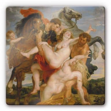 Rubens - The Rape of the Daughters of Leucippu Glass art