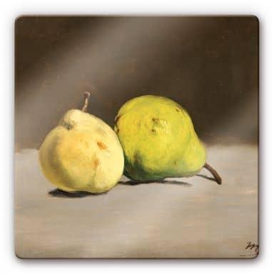 Glasbild Manet - Zwei Birnen