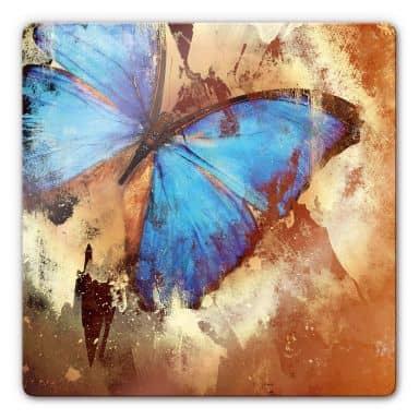 Butterfly Ice Glass art