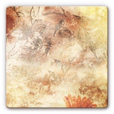 Glasbild Blütenrausch - quadratisch