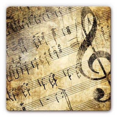 Glasbild Musik