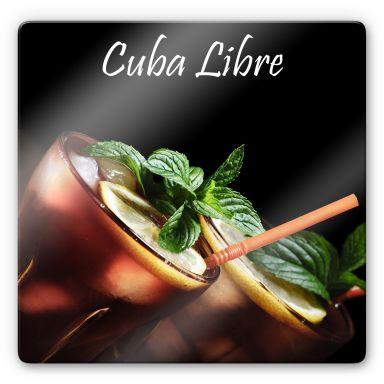 Glasbild Cuba Libre