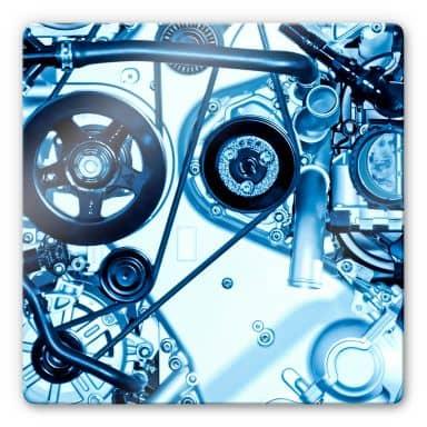 Glasbild Motorscan - qaudratisch