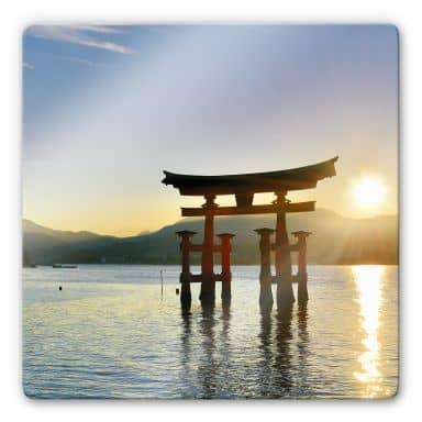 Itsukushima Shrine - Square Glass art