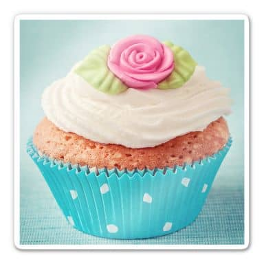 Glasbild Sweet Cupcake - quadratisch