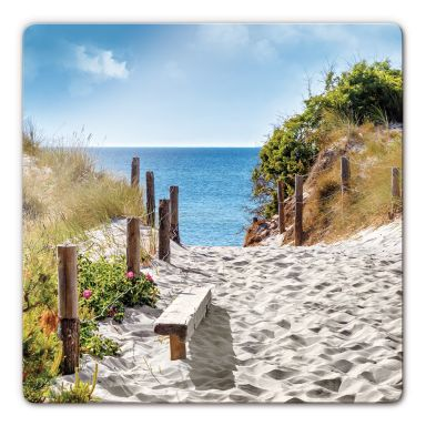 Coastal views Glass art - square