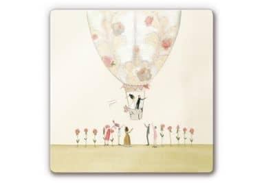 Glasbild Leffler - Hochzeitsballon