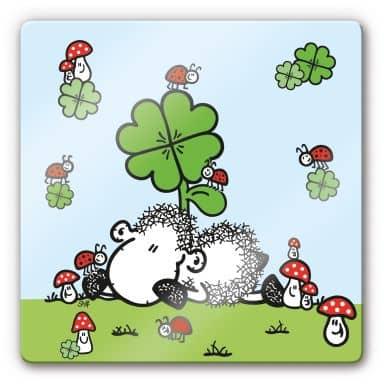 Glasbild sheepworld Glücksschaf