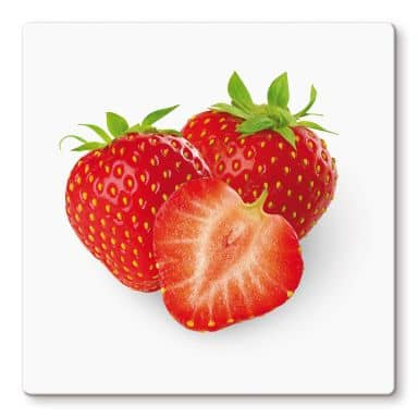 Strawberries Glass art